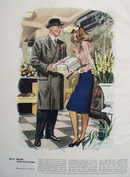 Man Mode And Manners Drawing by M Murley Ad 1947
