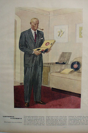 Sartorial Symphony Drawing by Laurence Fellows Ad 1947