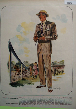 Odds On Favorite Drawing By Mal Murley Ad 1947