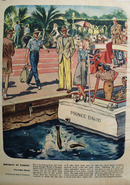 Holiday In Nassau Drawing by Robert Goodman Ad 1947