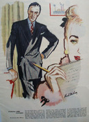 Typing The Tycoon Drawing by Karl Milroy Ad 1947