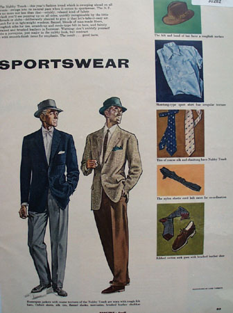 Nubby Touch Sportswear Ad 1953  this is an April 1953