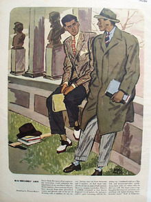 Bachelors Art Drawing by Peters Reiser Ad 1947