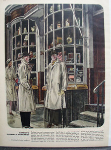 Londons Fashion Landmarks Drawing by Saalburg Ad 1947
