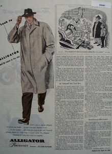 Alligator Rainwear Be Smart In The Rain Ad 1946