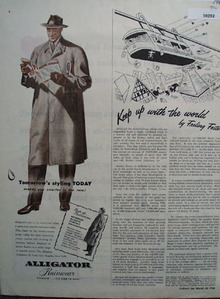 Alligator Rainwear Tomorrows Styling Today Ad 1946