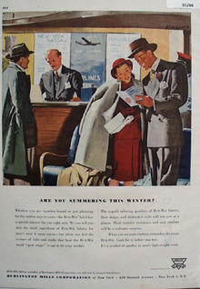Burlington Mills Summering This Winter Ad 1947