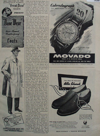 Cosmopolitan Mfg Co Dane Wear Topcoat Ad 1947
