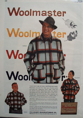 Fox Knapp Mfg Woolmaster Mens Jacket Ad 1948