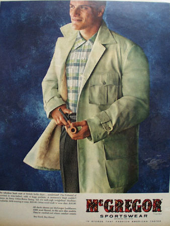 McGregor Sportswear Fabulous Bush Coat Ad 1955