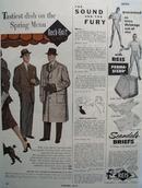Rock Knit Coats Tastiest Dish Spring Menu Ad 1953