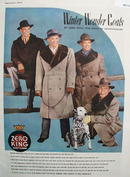 Zero King Sportswear Four Men And Dalmatian Ad 1947