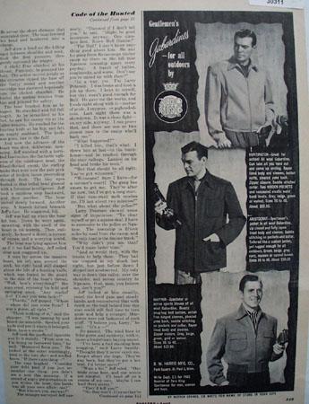 B W Harris Gentlemens Gabardines Ad 1950