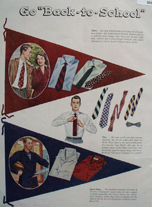 Arrow Shirts go Back to School Ad 1949