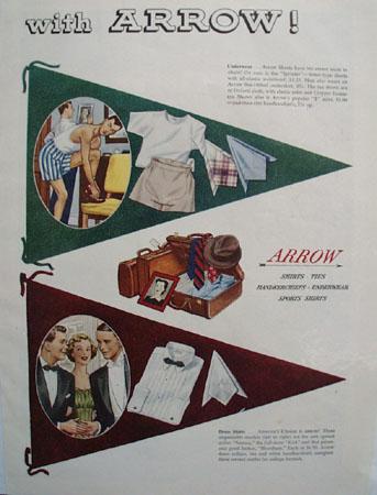 Arrow Shirts go Back to School Ad 1949