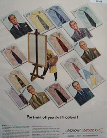 Arrow Shirts Portrait of You In 14 Colors Ad 1949