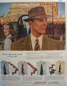 Arrow Shirts Style Of Month Arapastel Ad 1948