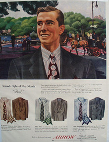 Arrow Shirts Style of Month Park Ad 1948