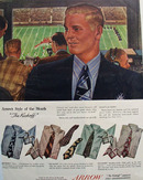 Arrow Shirts Style of Month The Kickoff Ad 1948
