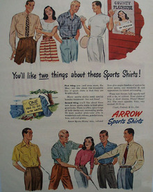Arrow Shirts Folks At County Playhouse Ad 1947