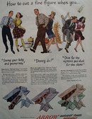 Arrow Shirts How To Cut Fine Figure Ad 1947