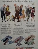 Arrow Shirts How To Cut Fine Figure Ad 1947