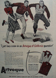 Artvogue Sportshirt Just Love A Man Ad 1947