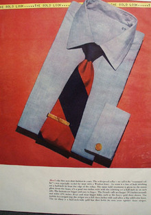 Bold Look Command Collar Blue Shirt Ad 1948
