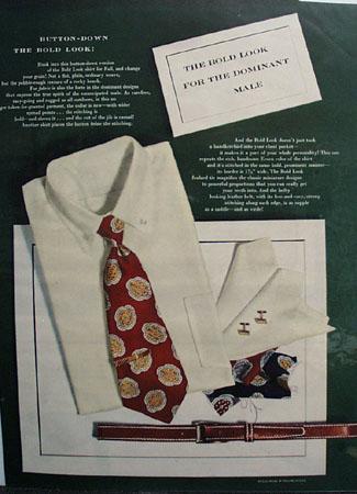 Bold Look Button Down Ensemble Ad 1948