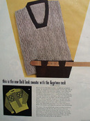 Bold Look Sweater With Keystone Neck Ad 1948