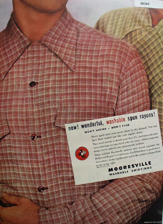 Rogue Shirts Wonderful Washable Spun Rayon Ad 1947