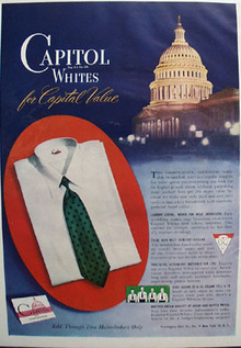 Pennington Shirt Co Capitol Whites Ad 1947