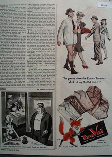 Tru Val Shirt Easter Ad 1946