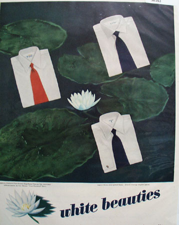 Van Heusen Shirts White Beauties Ad 1948