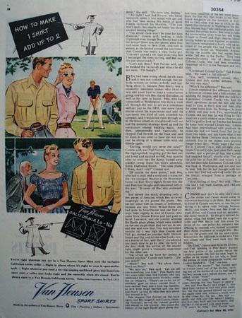 Van Heusen Sport Shirt One Shirt Add Up to 2 Ad 1946
