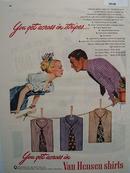 Van Heusen Shirts Get Across In Stripes Ad 1947