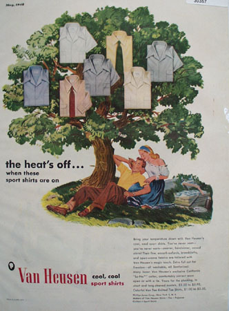 Van Heusen Shirts In Shade Tree Ad 1948