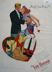 Van Heusen Shirts Straight From Heart Ad 1947