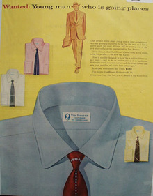 Van Heusen Young Man Going Places Ad 1953