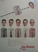 Van Heusen Shirt Put Right Shirt On Right Man Ad 1947