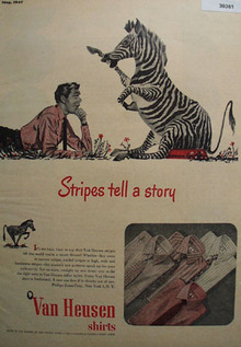 Van Heusen Shirts Stripes Tell A Story Ad 1947