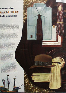 Galleon New Color Bold And Gold Ad 1949
