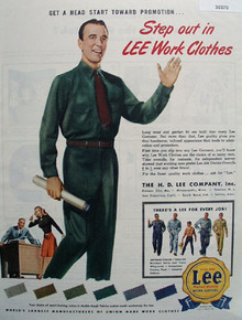 Lee Clothes Get Head Start for Promotion Ad 1946