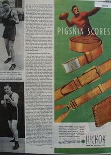 Hickok Pigskin Scores Ad  1944