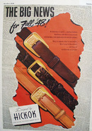 Hickok Belts The Big News For Fall 48 Ad 1948