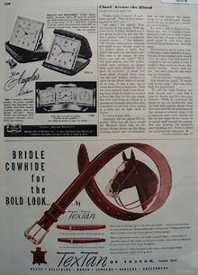 Textan Of Yoakum Mens Belts Ad 1948