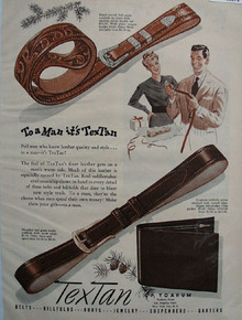 Textan To A Man It Is Textan Ad 1948