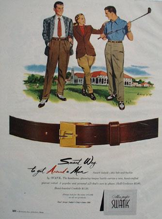 Swank Smart Way to Get Around A Man Ad 1948