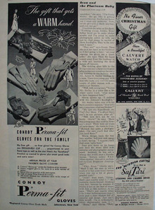 Perma Fit Gloves Christmas Ad 1948