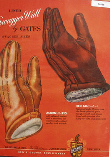Gates Mills Swagger Wall Mens Gloves Ad 1948